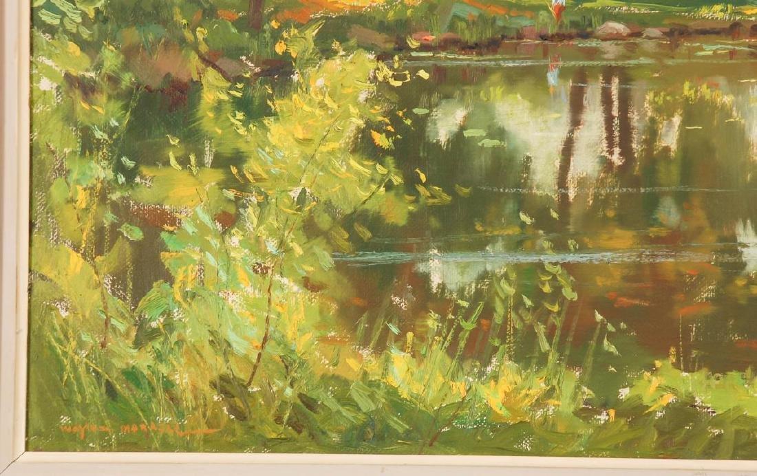 WAYNE MORRELL (1923-2013) OIL ON CANVAS LANDSCAPE - 6