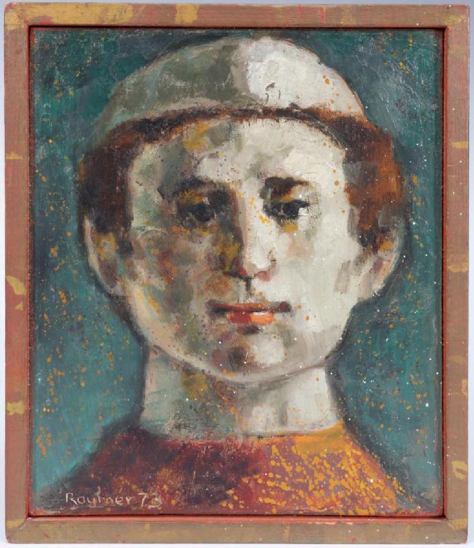 LESTER RAYMER (1907-1991) OIL ON PANEL, 1973