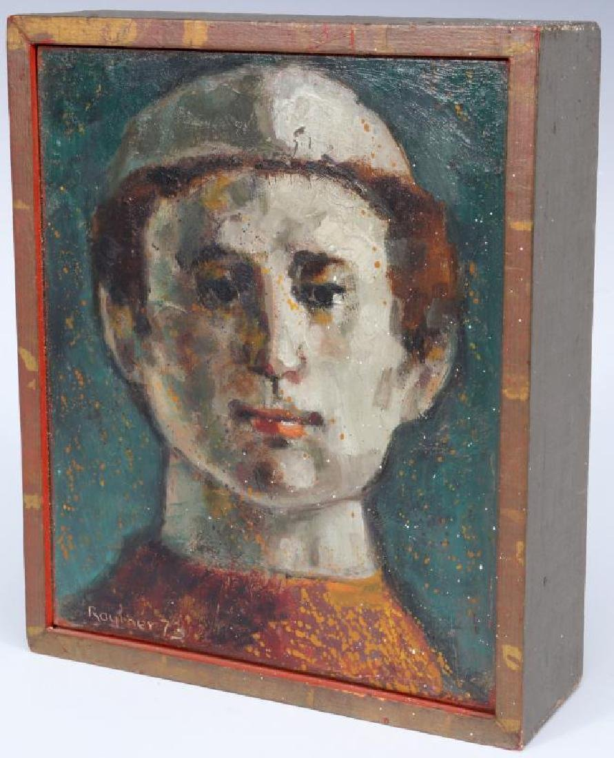 LESTER RAYMER (1907-1991) OIL ON PANEL, 1973 - 2