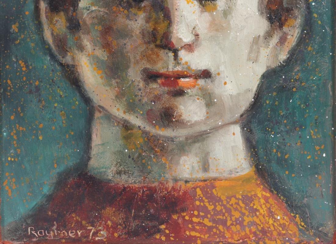 LESTER RAYMER (1907-1991) OIL ON PANEL, 1973 - 4