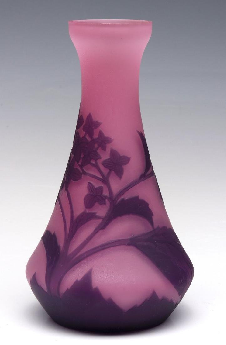A FRENCH CAMEO GLASS VASE SIGNED RICHARD