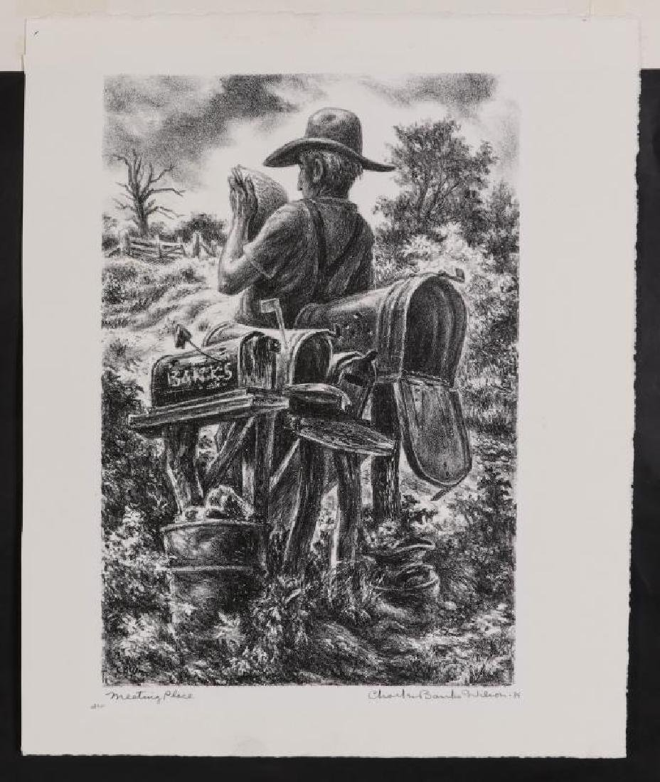 CHARLES BANKS WILSON (1918-2013) SIGNED LITHOGRAPH - 2
