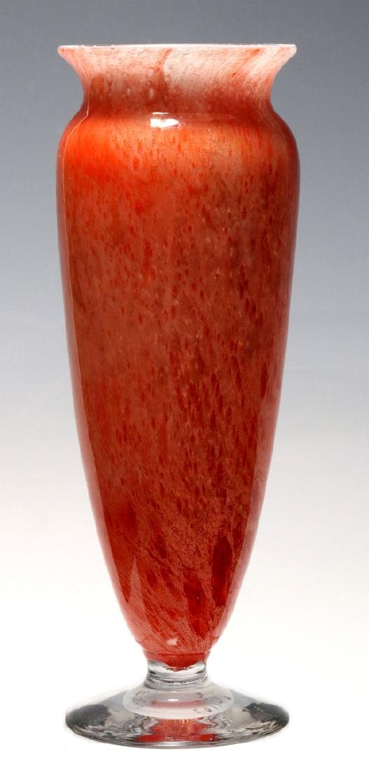 A KIMBALL CLUTHRA ART GLASS VASE SIGNED DURAND