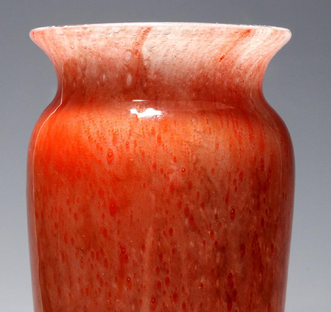 A KIMBALL CLUTHRA ART GLASS VASE SIGNED DURAND - 2