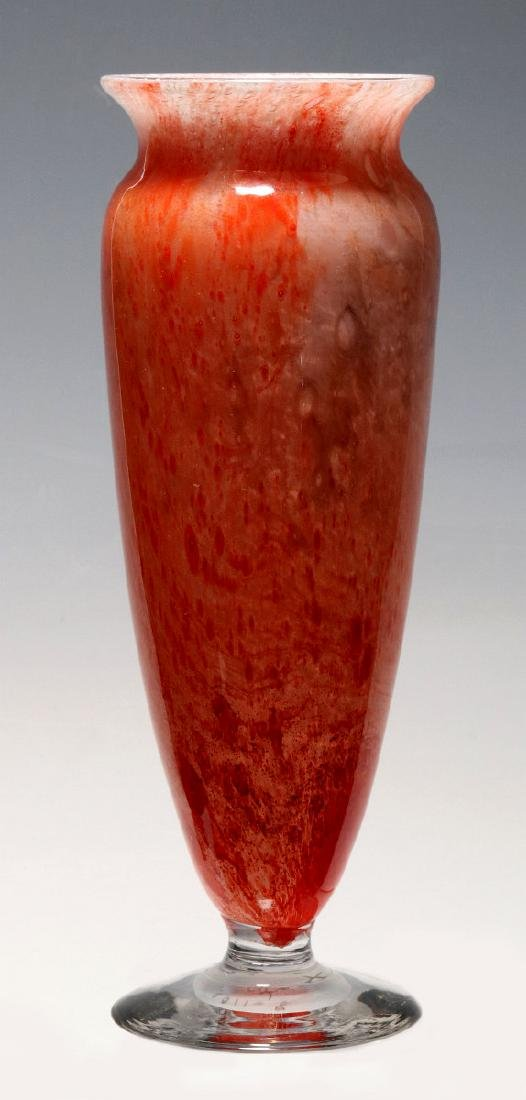 A KIMBALL CLUTHRA ART GLASS VASE SIGNED DURAND - 4
