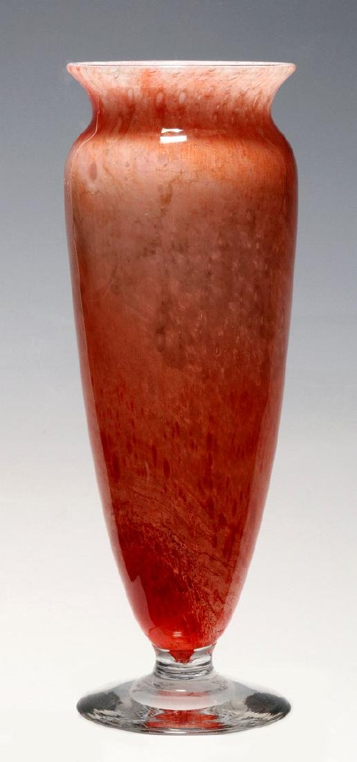 A KIMBALL CLUTHRA ART GLASS VASE SIGNED DURAND - 5