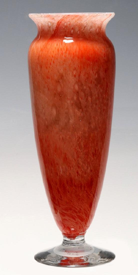 A KIMBALL CLUTHRA ART GLASS VASE SIGNED DURAND - 6