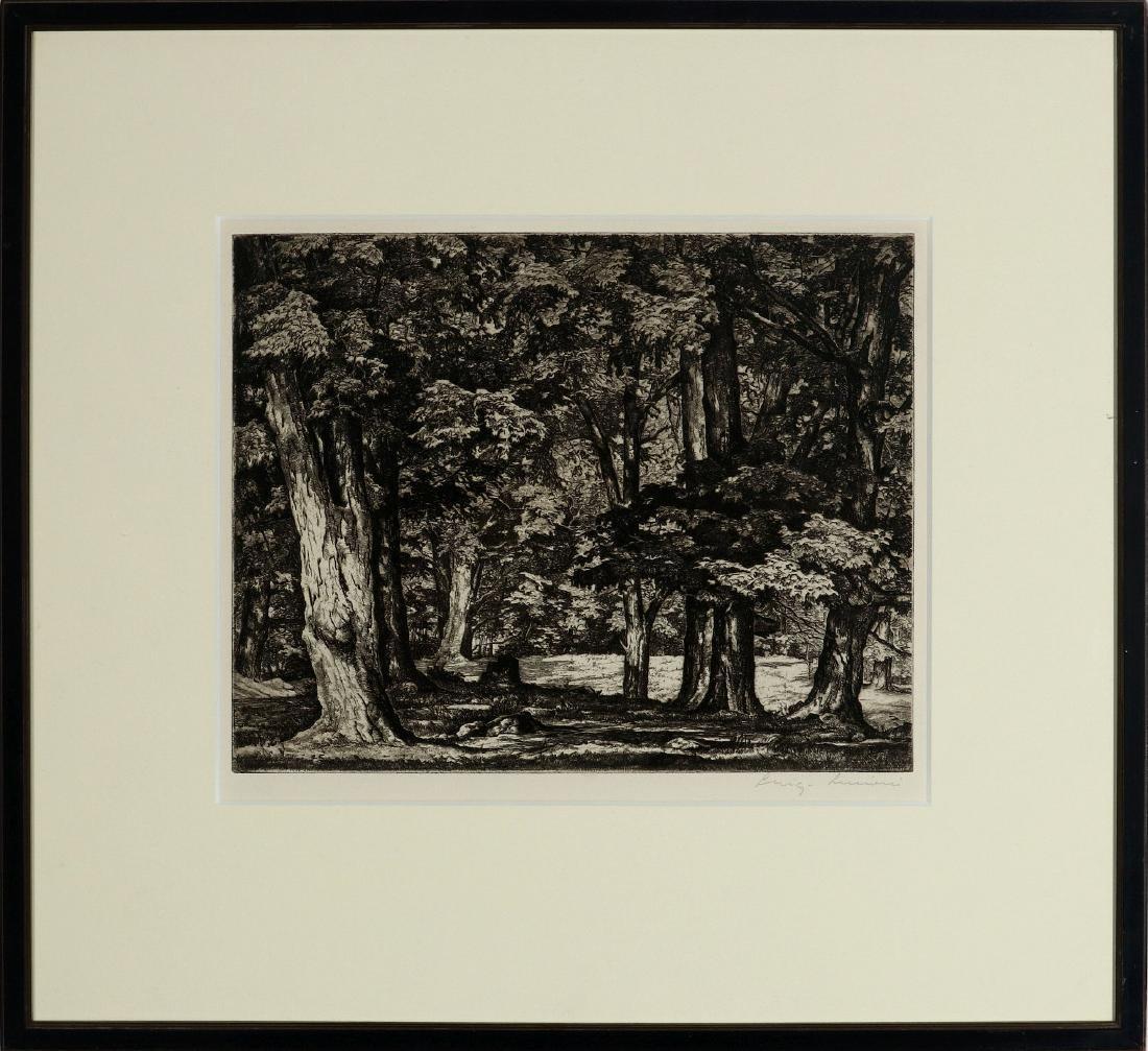 LUIGI LUCIONI (1900-1988) PENCIL SIGNED ETCHING - 2