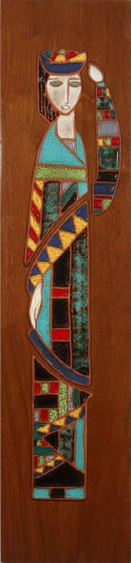 HARRIS STRONG (1920- ) MODERNIST PLAQUE CIRCA 1960
