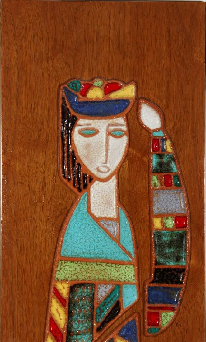 HARRIS STRONG (1920- ) MODERNIST PLAQUE CIRCA 1960 - 2