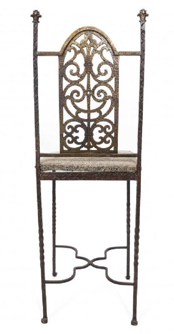 AN ORNATE ART DECO IRON TELEPHONE CABINET W/MARBLE - 10