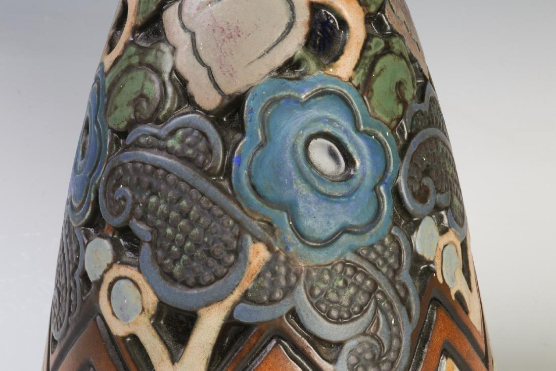 A GOOD MOUGIN NANCY FRENCH ART DECO POTTERY LAMP - 4