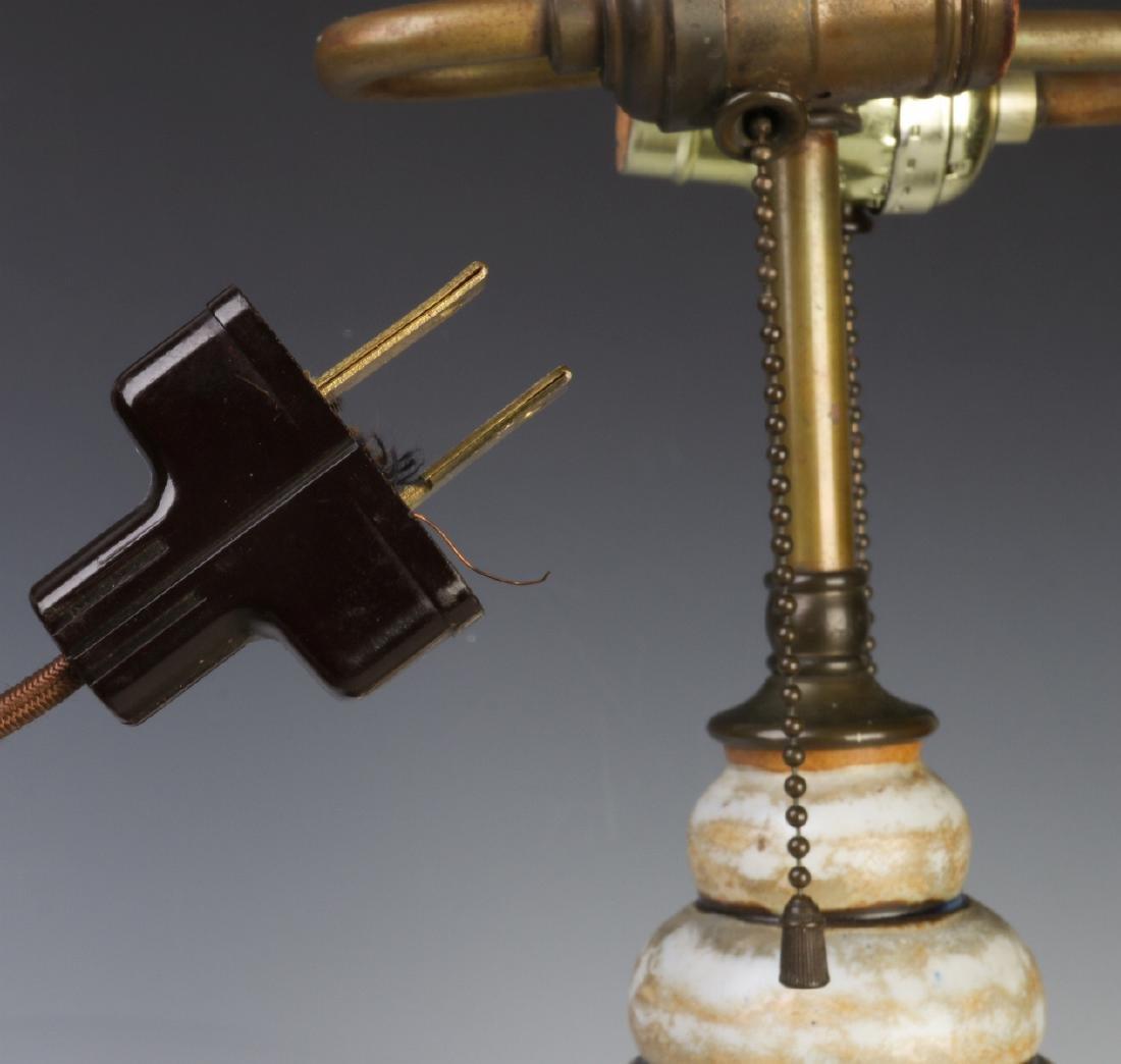 A GOOD MOUGIN NANCY FRENCH ART DECO POTTERY LAMP - 9