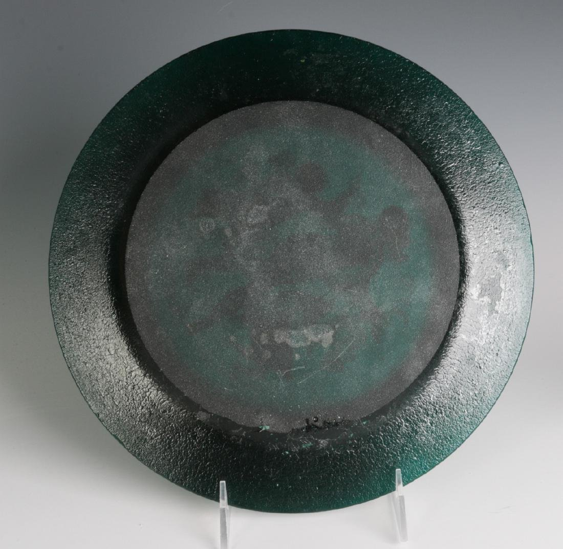 DAUM 'FOUR SEASONS' PATE DE VERRE GLASS PLATES - 9