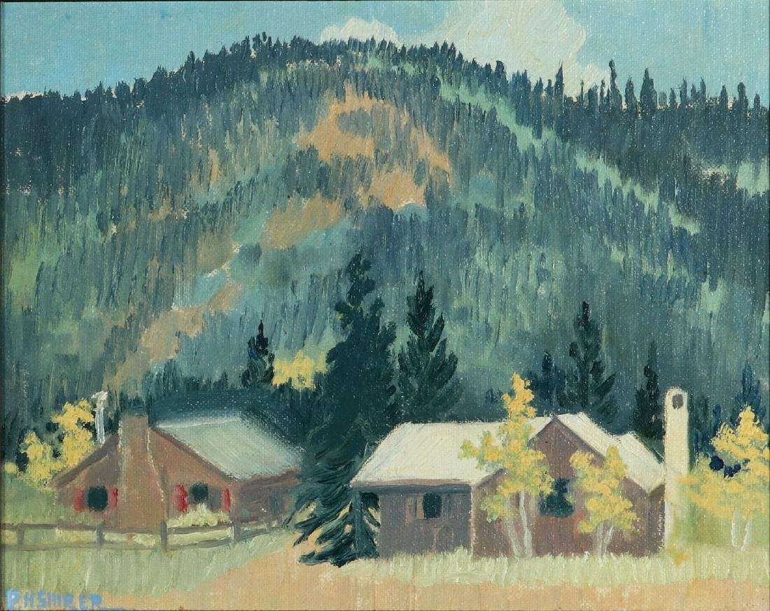 PAULINE SHIRER (1894-1975) OIL ON ARTIST'S BOARD