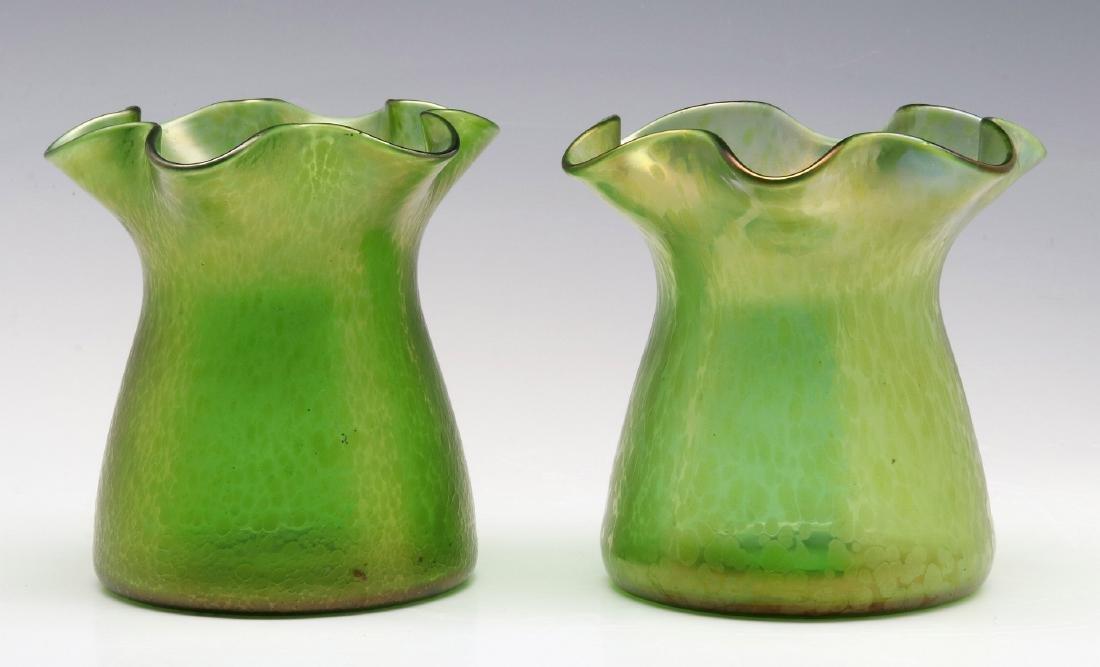 A PAIR OF LOETZ 'DIANA CISELE' ART GLASS VASES