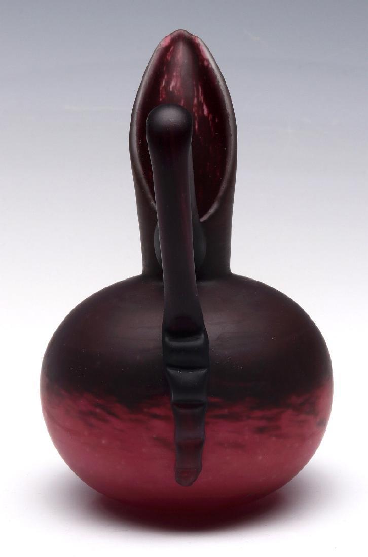A FRENCH ART DECO ART GLASS SIGNED SCHNEIDER - 4