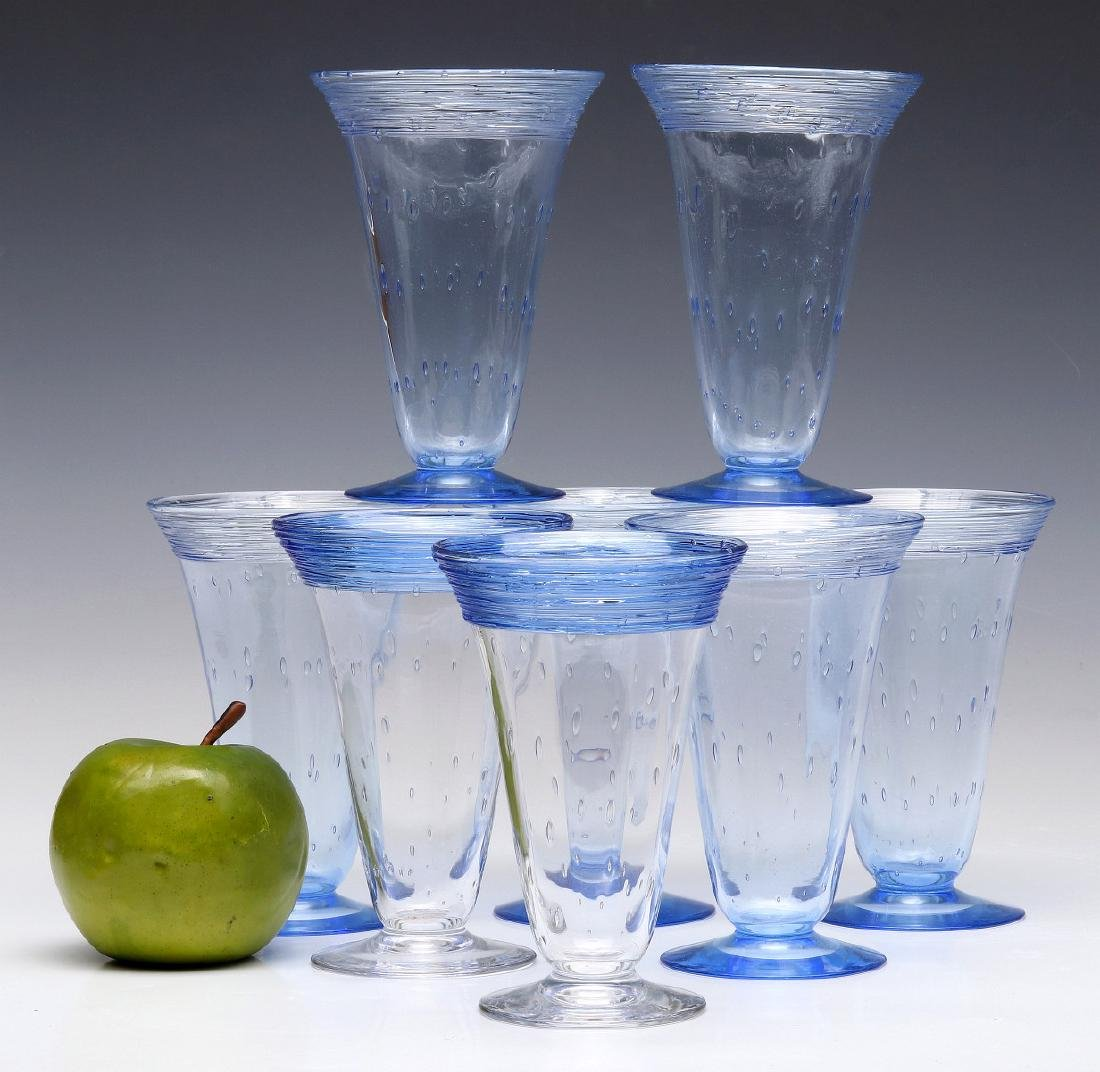 A SET OF STEUBEN ART GLASS PARFAIT GLASSES - 2