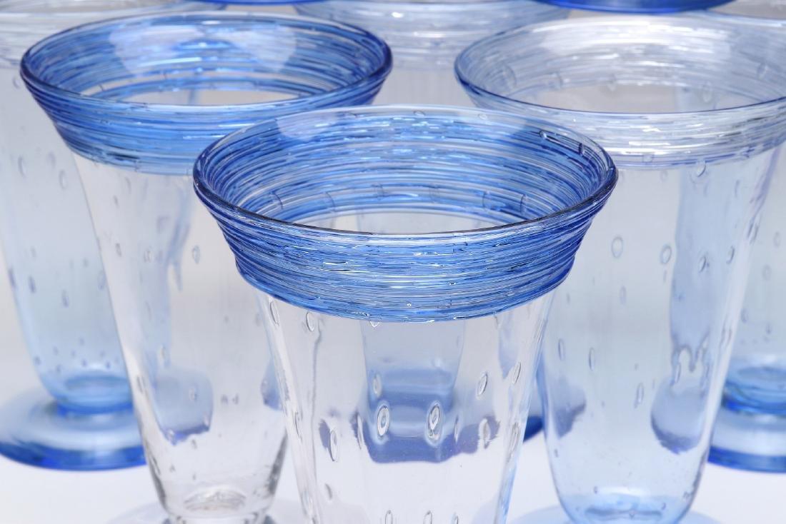 A SET OF STEUBEN ART GLASS PARFAIT GLASSES - 3