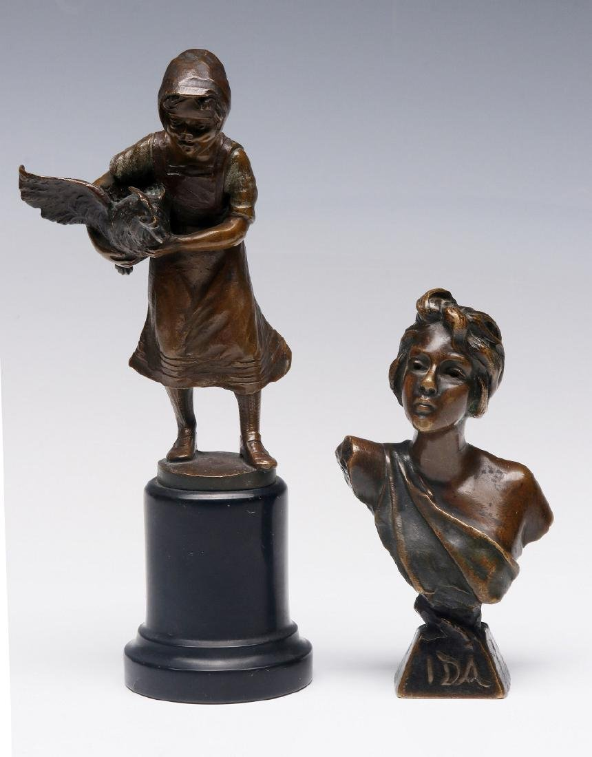 FRENCH AND GERMAN CABINET BRONZE SCULPTURES