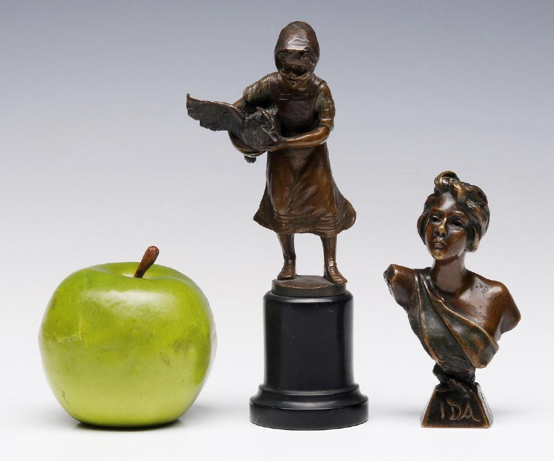 FRENCH AND GERMAN CABINET BRONZE SCULPTURES - 2
