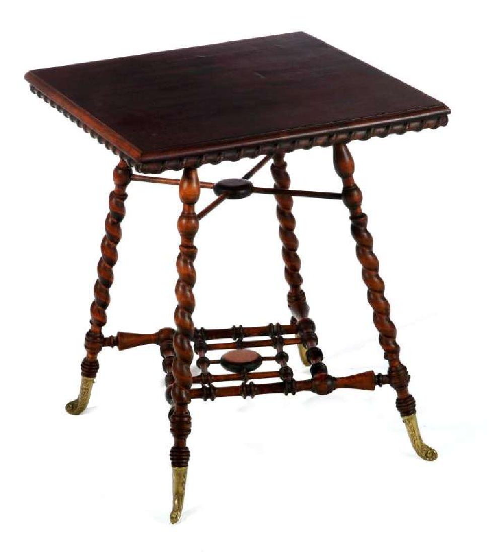 AN INTERESTING VICTORIAN STICK-N-BALL PARLOR TABLE