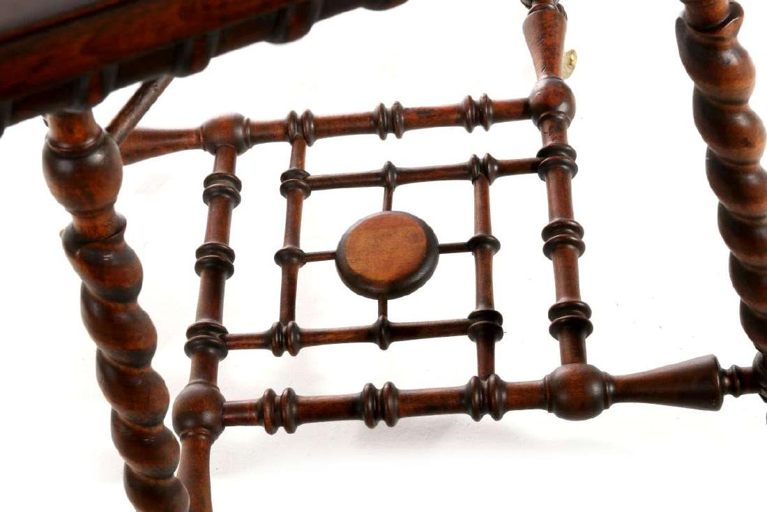 AN INTERESTING VICTORIAN STICK-N-BALL PARLOR TABLE - 7