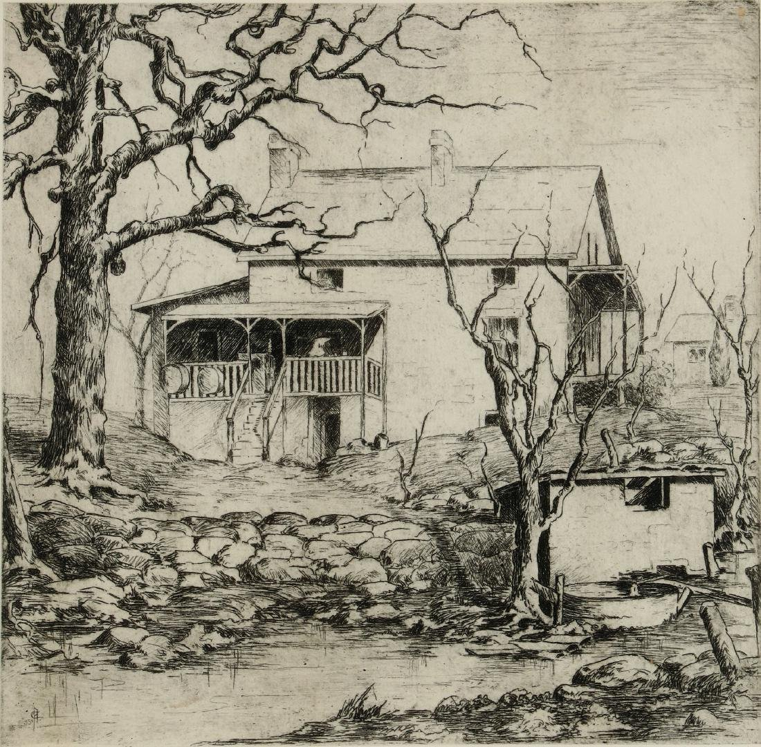AVIS CHITWOOD (1893-1994) PENCIL SIGNED ETCHING