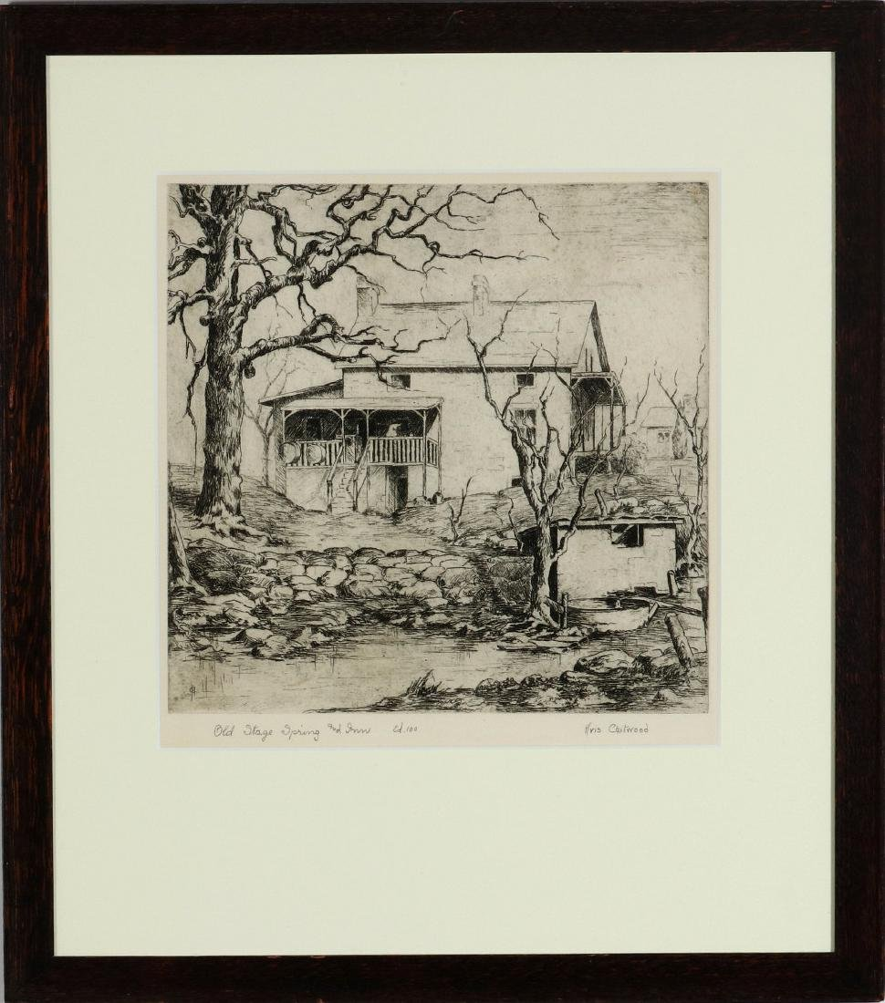 AVIS CHITWOOD (1893-1994) PENCIL SIGNED ETCHING - 2