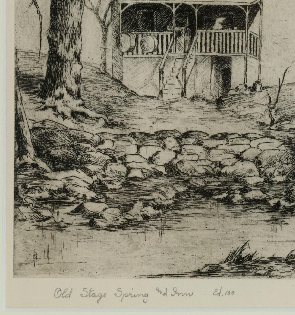 AVIS CHITWOOD (1893-1994) PENCIL SIGNED ETCHING - 7