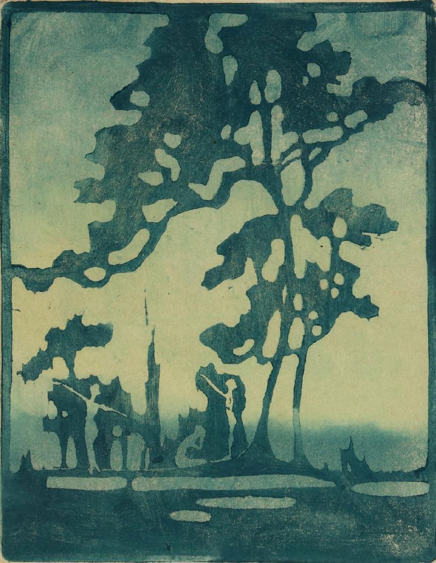 PAULINE SHIRER (1894-1975) COLOR BLOCK PRINT