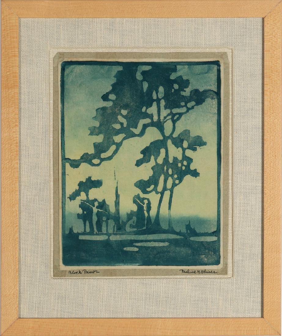 PAULINE SHIRER (1894-1975) COLOR BLOCK PRINT - 2