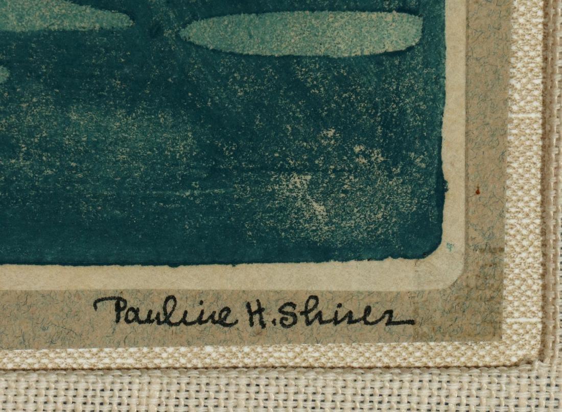 PAULINE SHIRER (1894-1975) COLOR BLOCK PRINT - 8