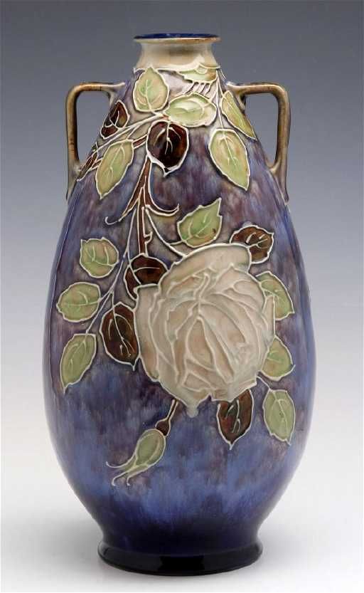 A Royal Doulton Vase Signed Florrie Jones