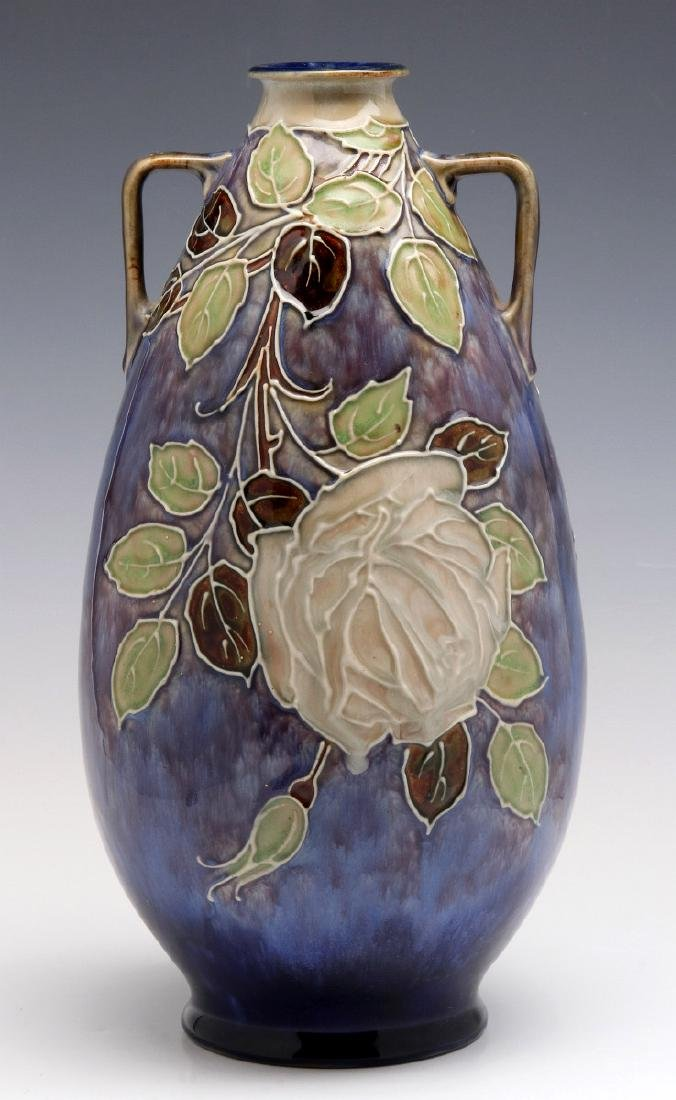 A  ROYAL DOULTON VASE SIGNED FLORRIE JONES