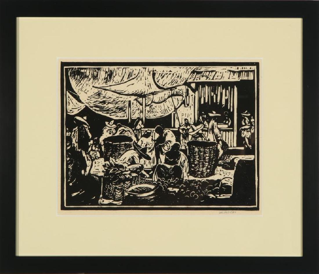 CHARLES WILIMOVSKY (1885-1974) SIGNED WOODBlOCK - 2