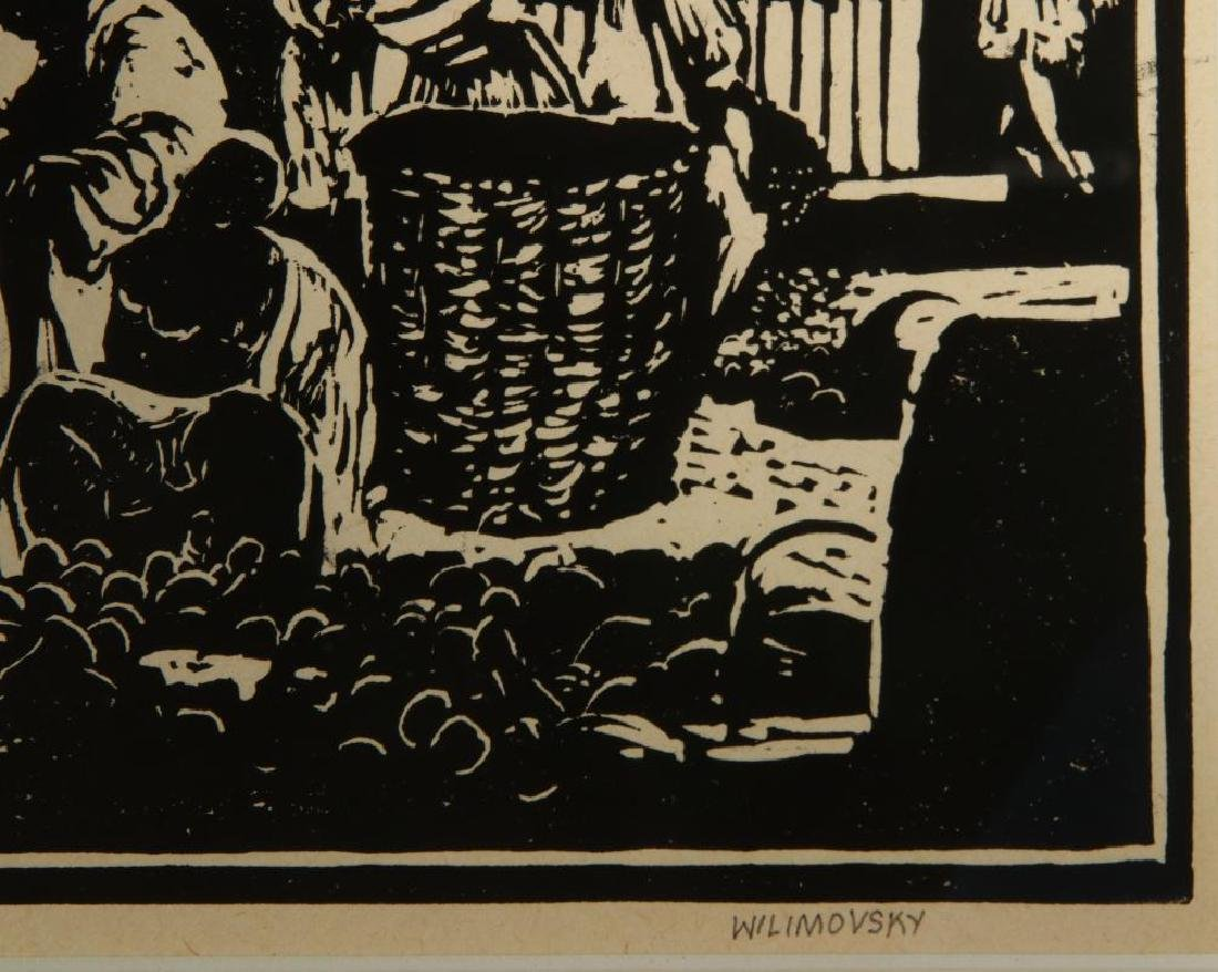 CHARLES WILIMOVSKY (1885-1974) SIGNED WOODBlOCK - 5