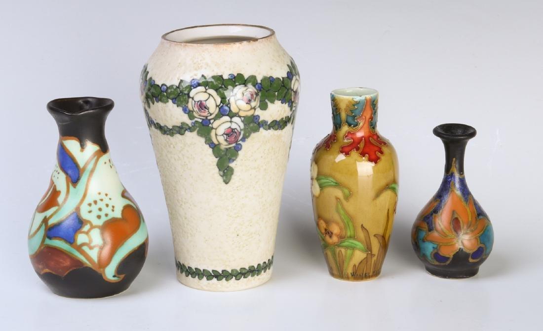 CIRCA 1920s EUROPEAN ART POTTERY CABINET VASES