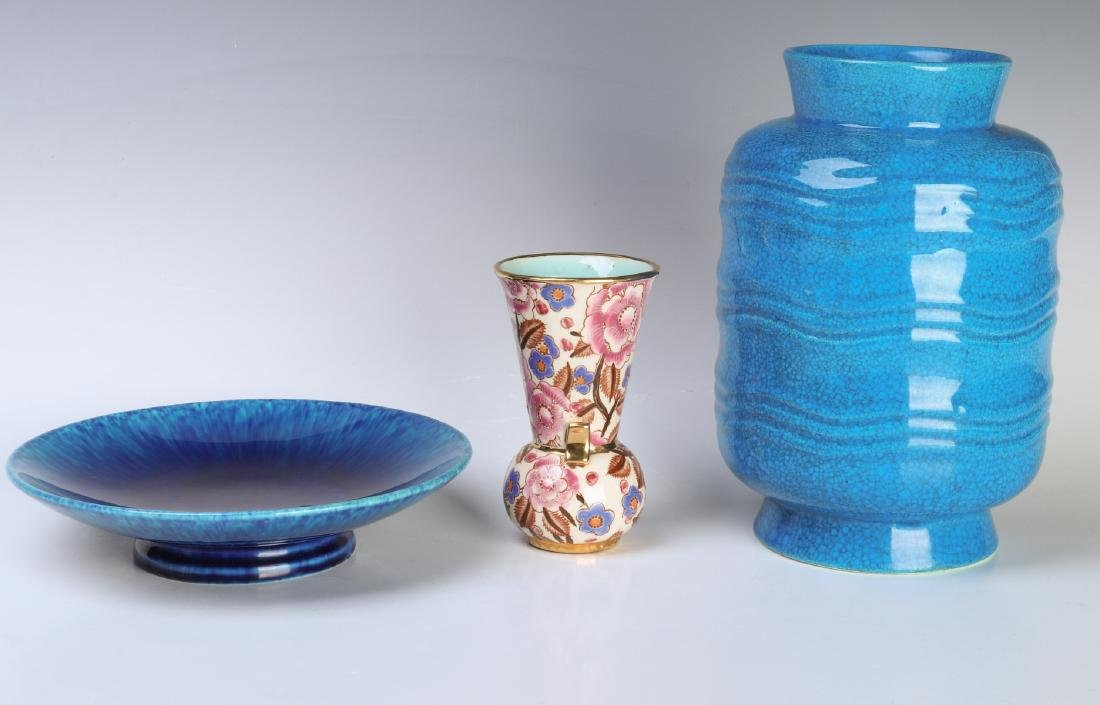 THREE BOCHE FRERES AND SEVRES ART POTTERY OBJECTS