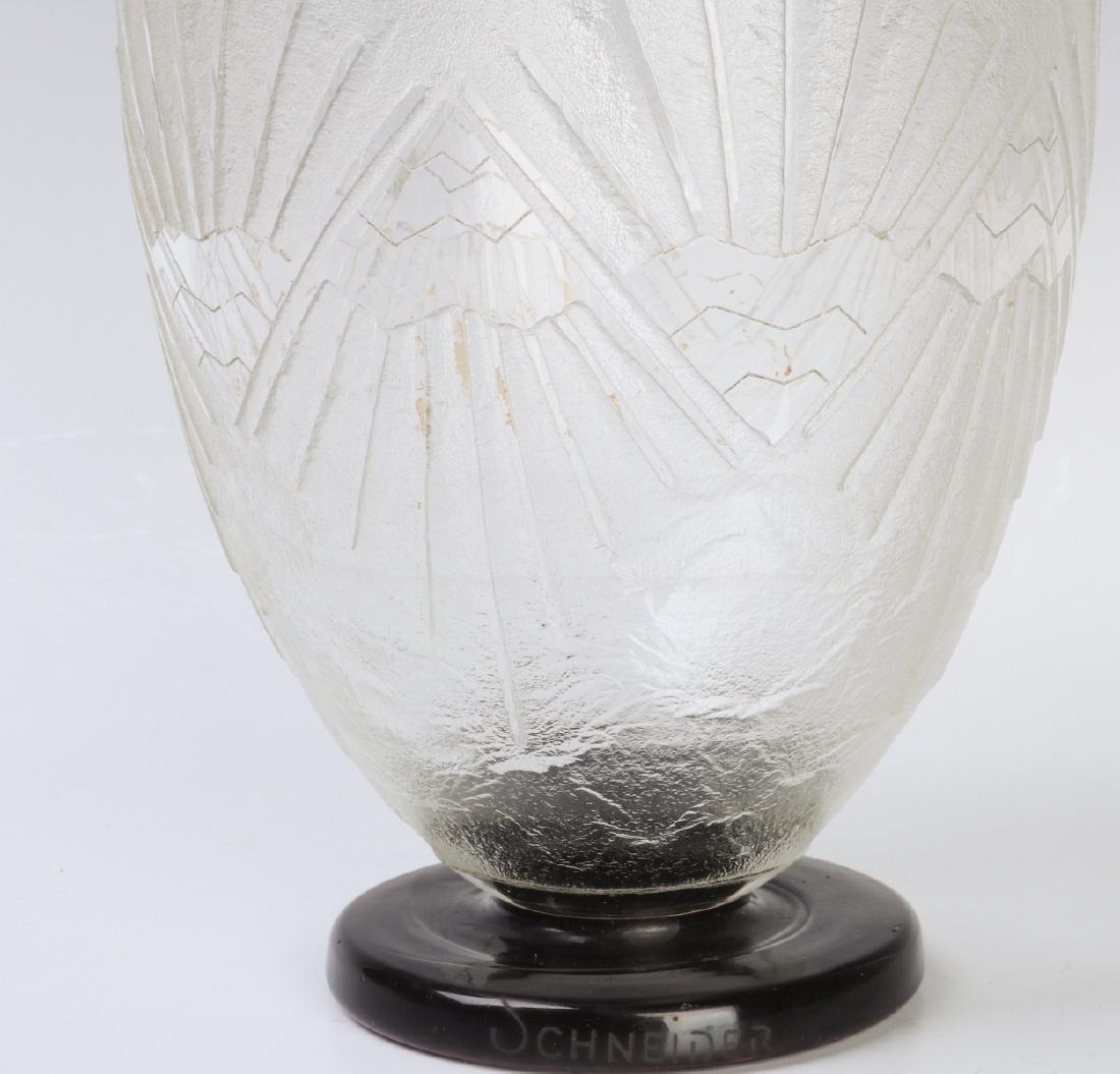 A SCHNEIDER FRENCH ART DECO VASE CIRCA 1930 - 3