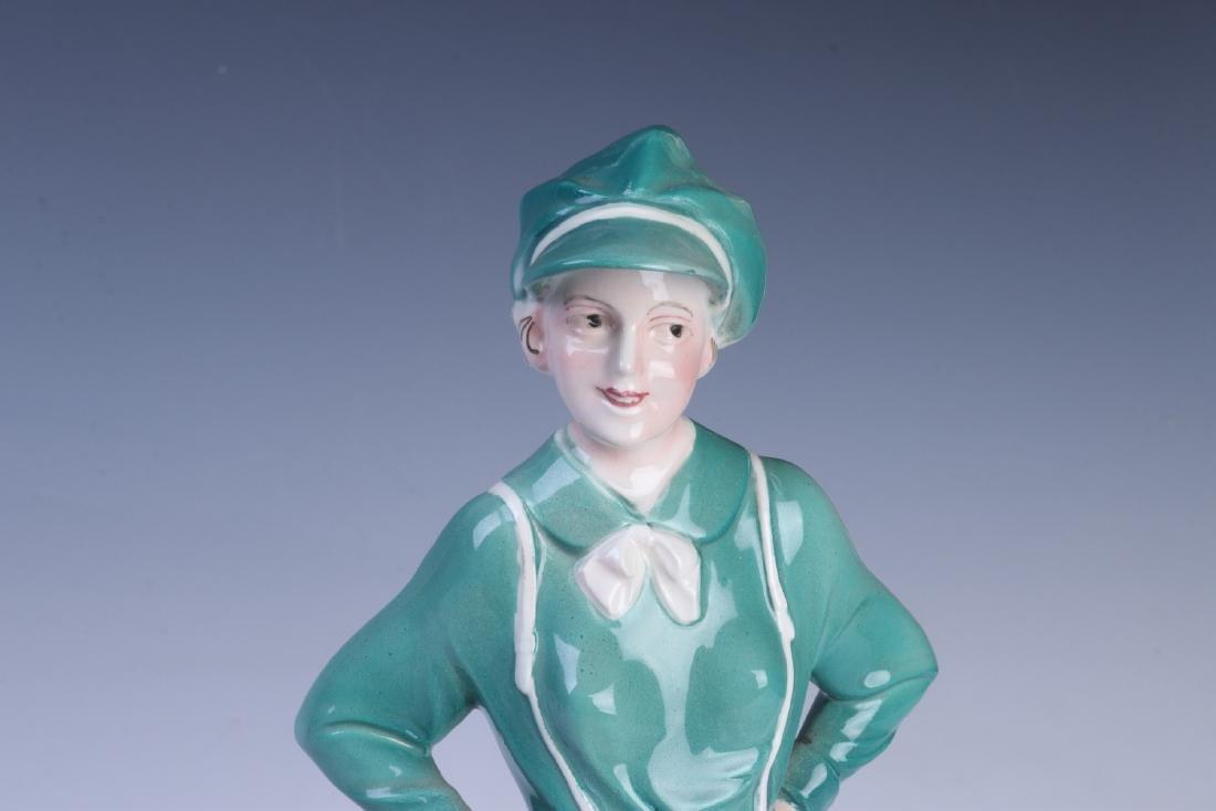 A KATZHUTTE, HERTWIG & CO ART DECO FIGURINE C 1935 - 8
