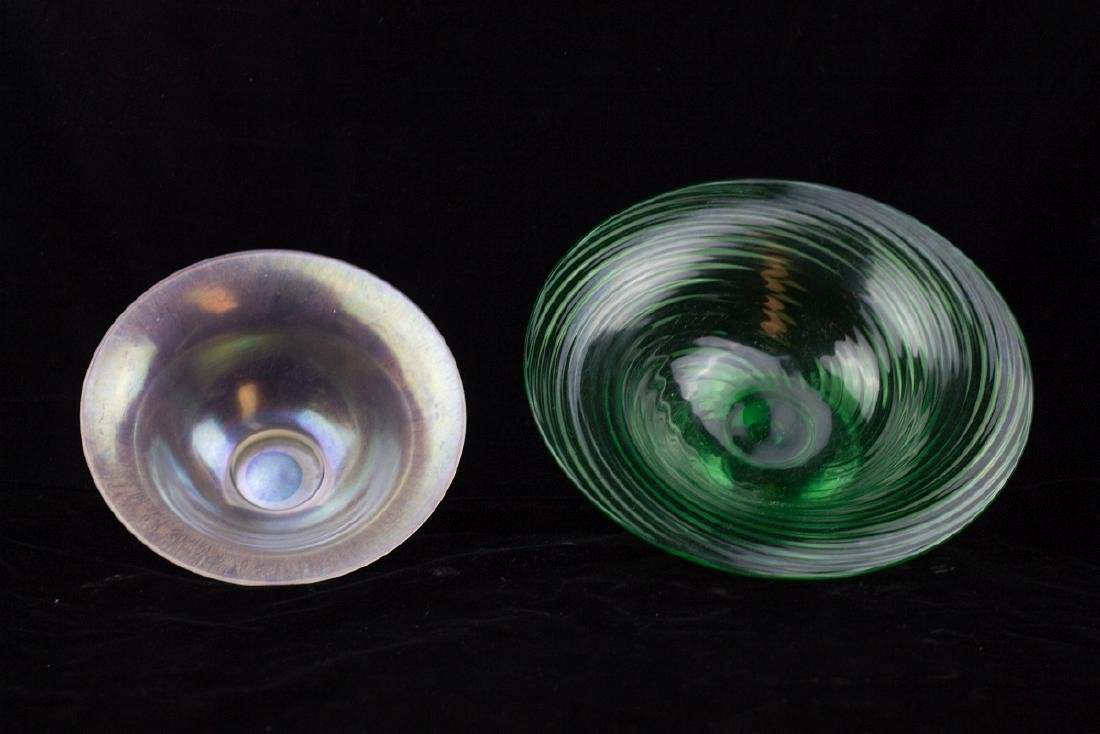 TWO STEUBEN ART GLASS BOWLS