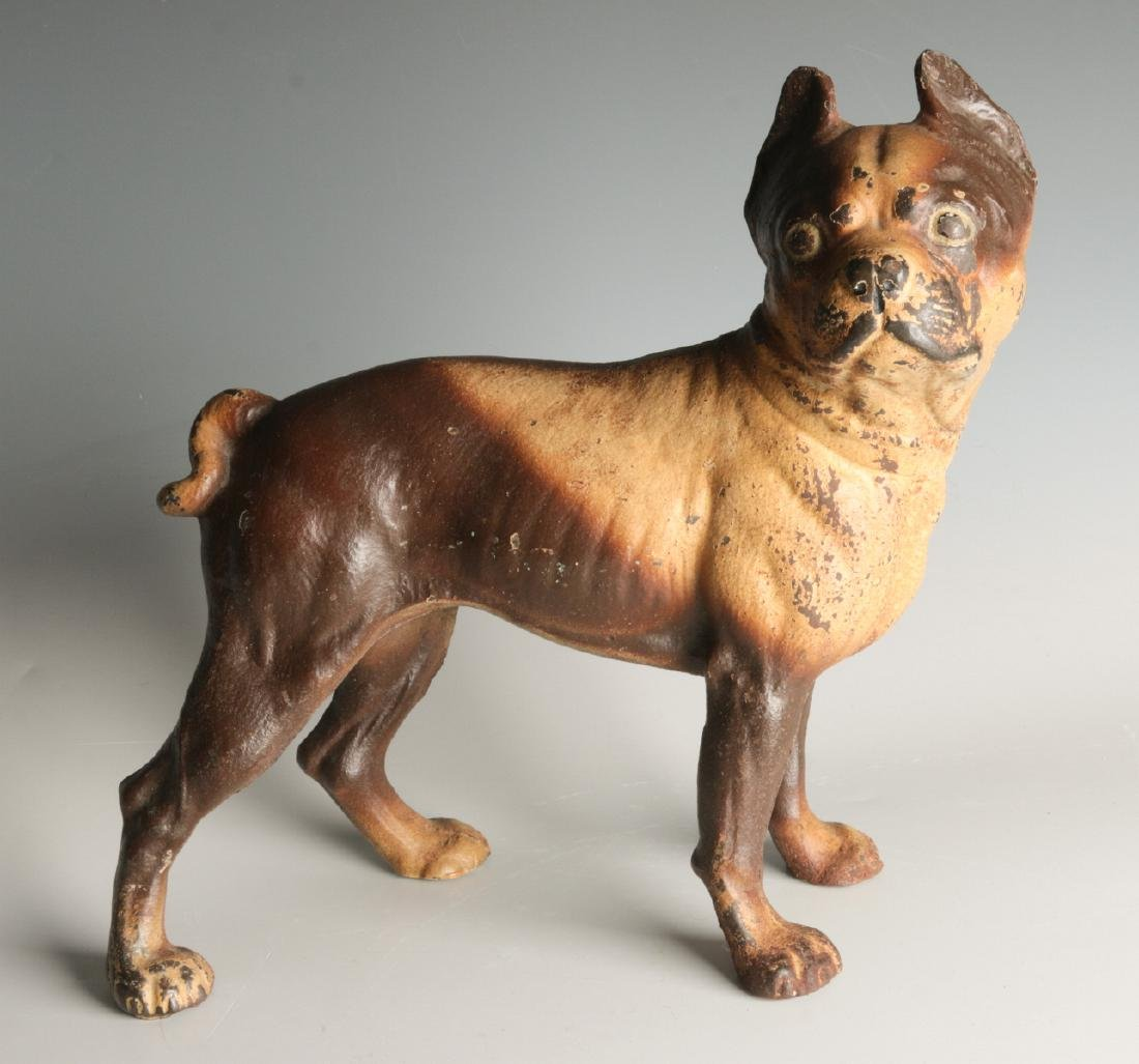 A HUBLEY BOSTON BULL TERRIER CAST IRON DOORSTOP