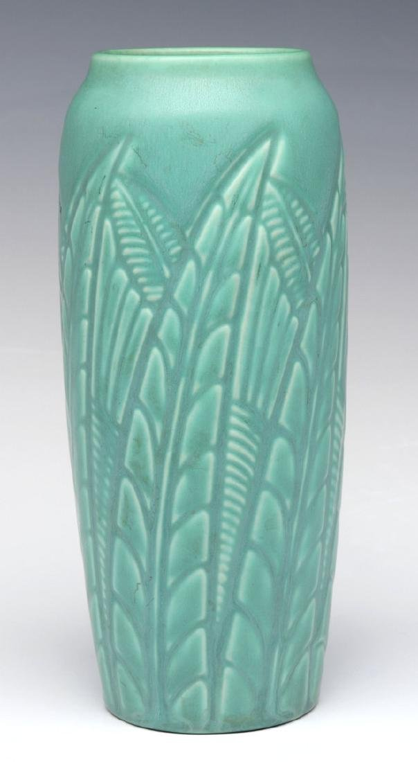 A ROOKWOOD ART POTTERY VASE DATED 1937