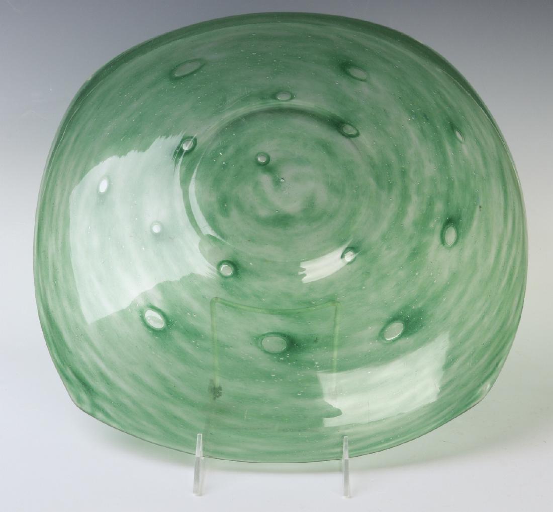A SCHNEIDER ART GLASS CHARGER - 5