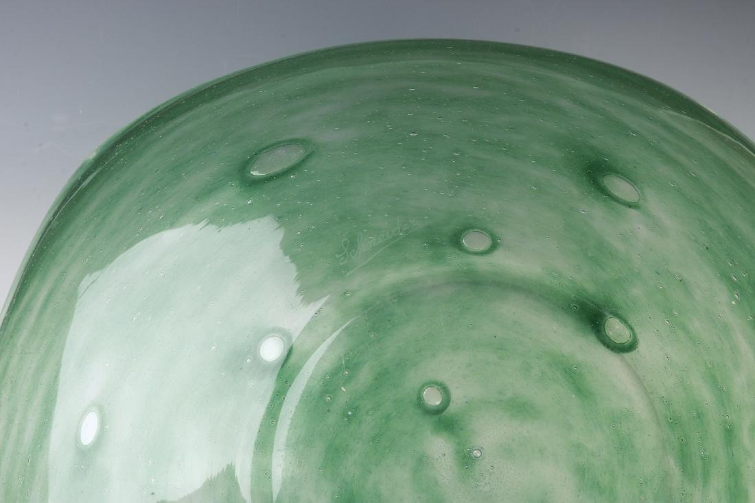 A SCHNEIDER ART GLASS CHARGER - 6