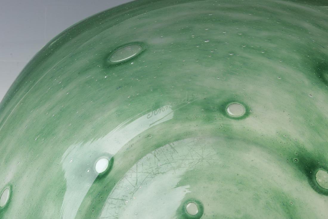 A SCHNEIDER ART GLASS CHARGER - 7