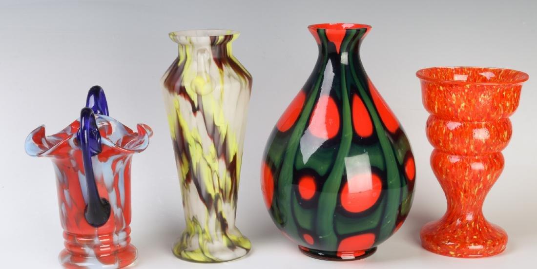 A COLLECTION OF CZECH ART GLASS - 2
