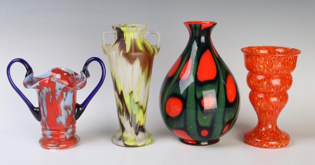 A COLLECTION OF CZECH ART GLASS - 3