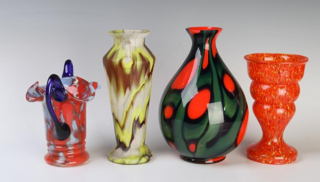 A COLLECTION OF CZECH ART GLASS - 4